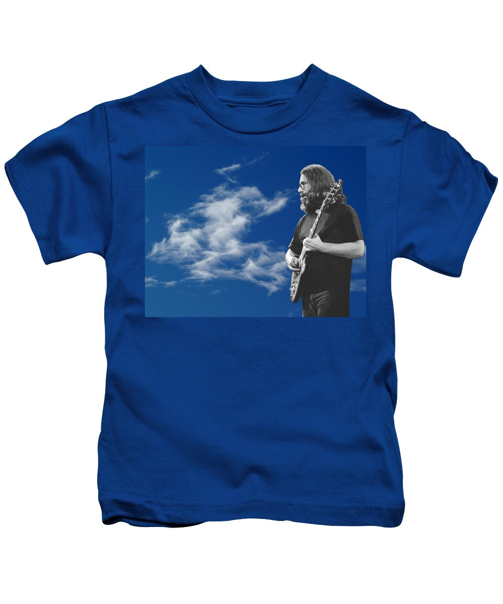 Jerry Garcia Kids T-Shirt featuring the photograph Jerry And The Dancing Cloud by Ben Upham