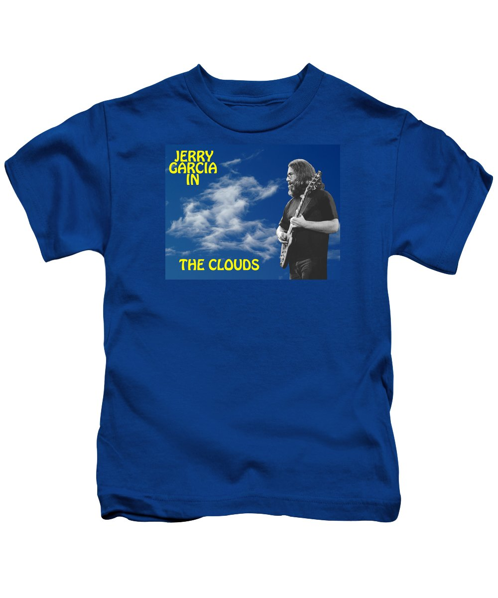Jerry Garcia Kids T-Shirt featuring the photograph In The Clouds by Ben Upham