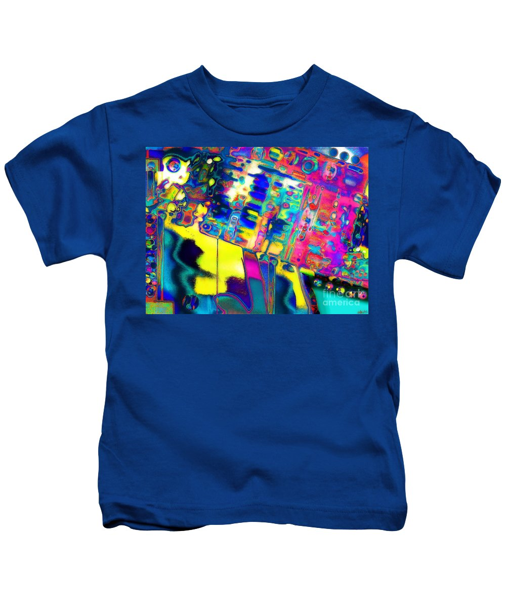 Contemporary Colorful Abstract Expressionist Artwork Kids T-Shirt featuring the photograph K.w.w.prism by Expressionistart studio Priscilla Batzell