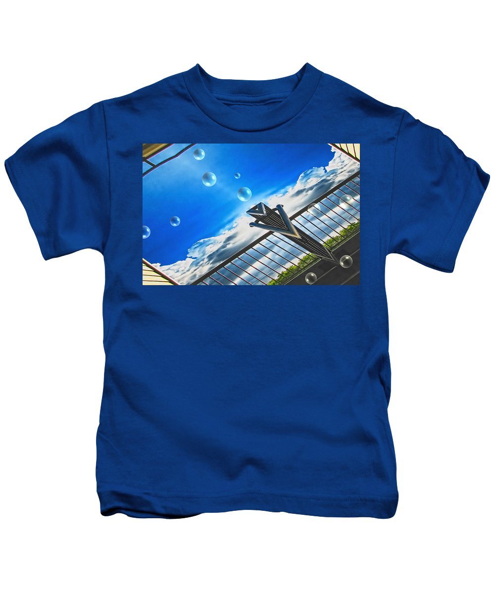 Bubbles Kids T-Shirt featuring the digital art Letting Go by Wendy J St Christopher