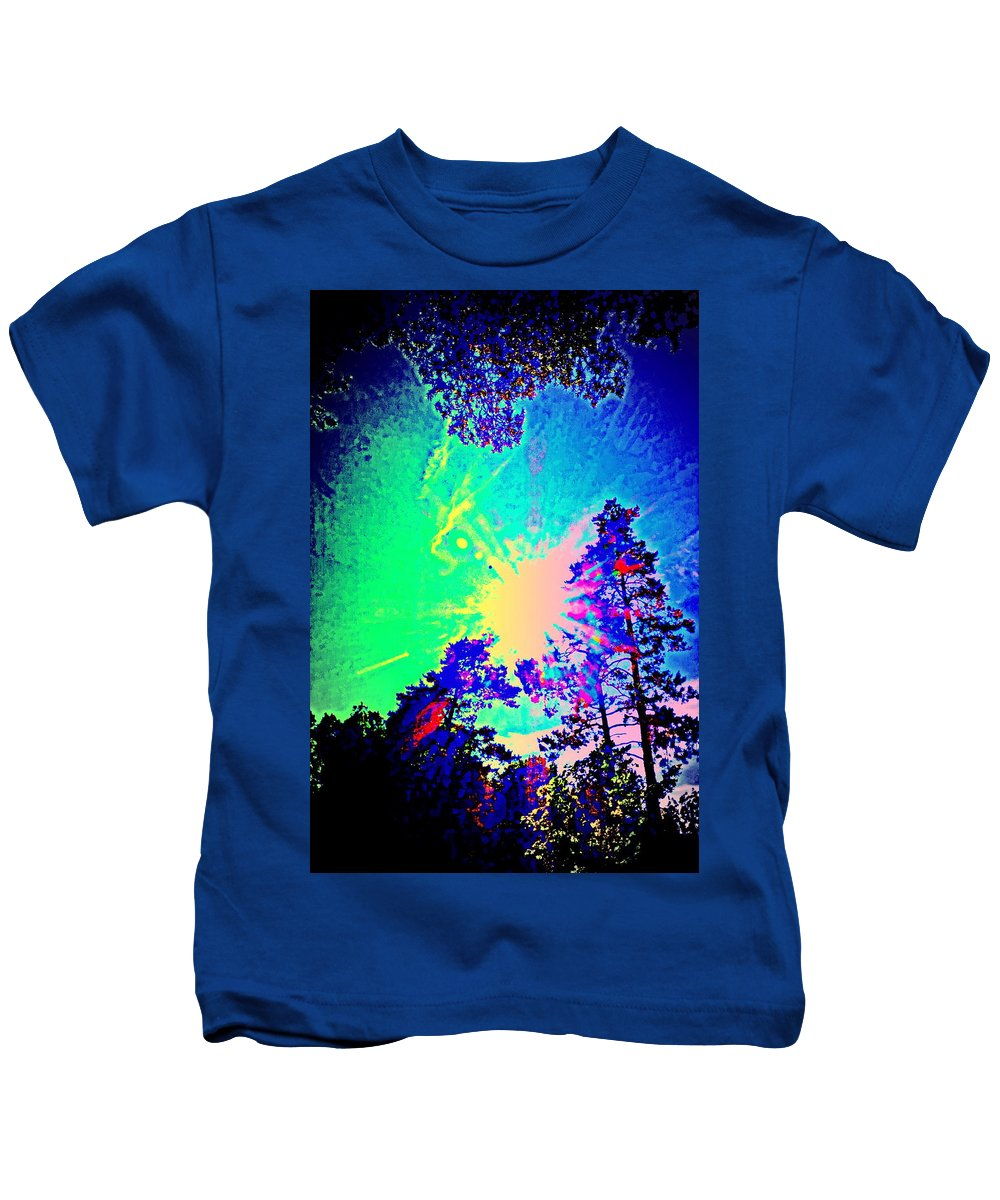 Summer Kids T-Shirt featuring the photograph Lucy In The Sky With Diamonds Shining Right Back At You by Hilde Widerberg