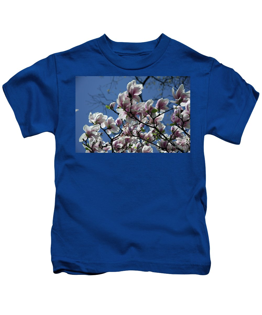 Magnolia Kids T-Shirt featuring the photograph Magnolia Twig by Christiane Schulze Art And Photography