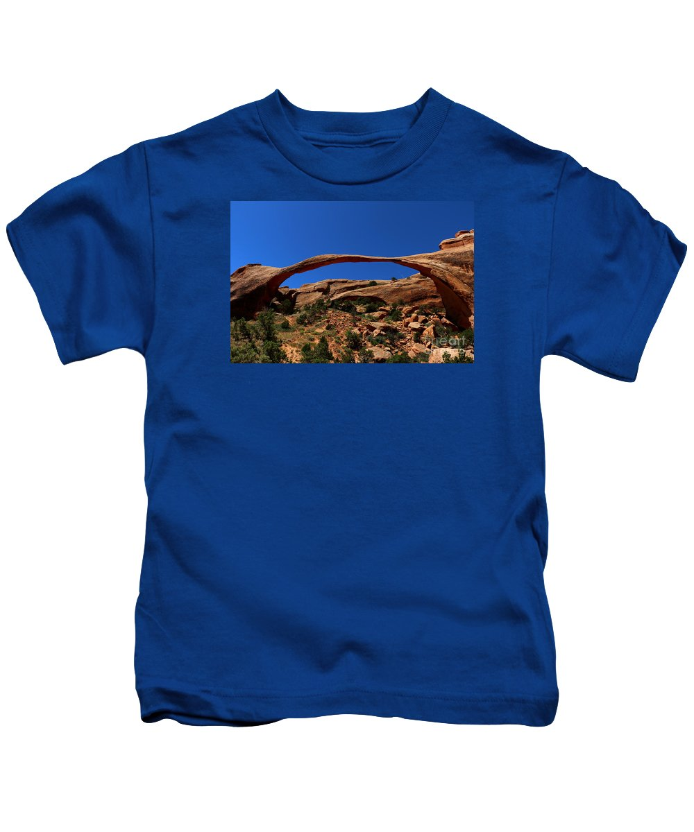 Landscape Arch Kids T-Shirt featuring the photograph Marvelous Landscape Arch by Christiane Schulze Art And Photography