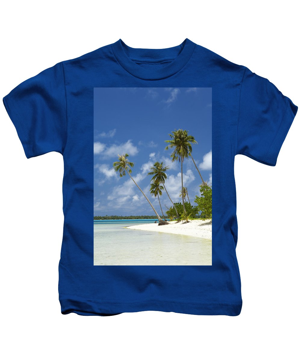 Beach Kids T-Shirt featuring the photograph Maupiti Lagoon by Kyle Rothenborg - Printscapes