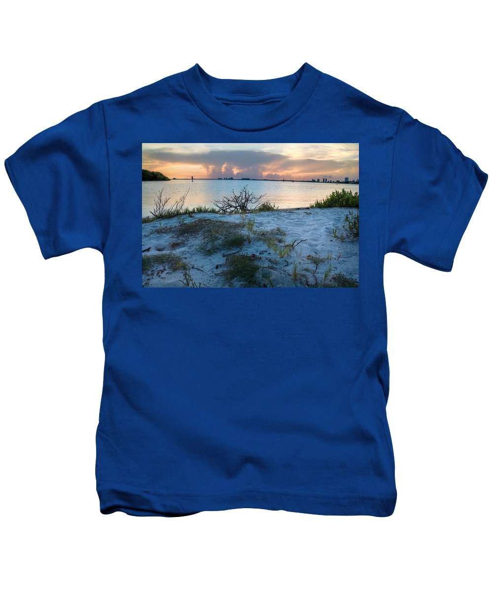 Coast Kids T-Shirt featuring the photograph Miami Sunset by Manuel Lopez