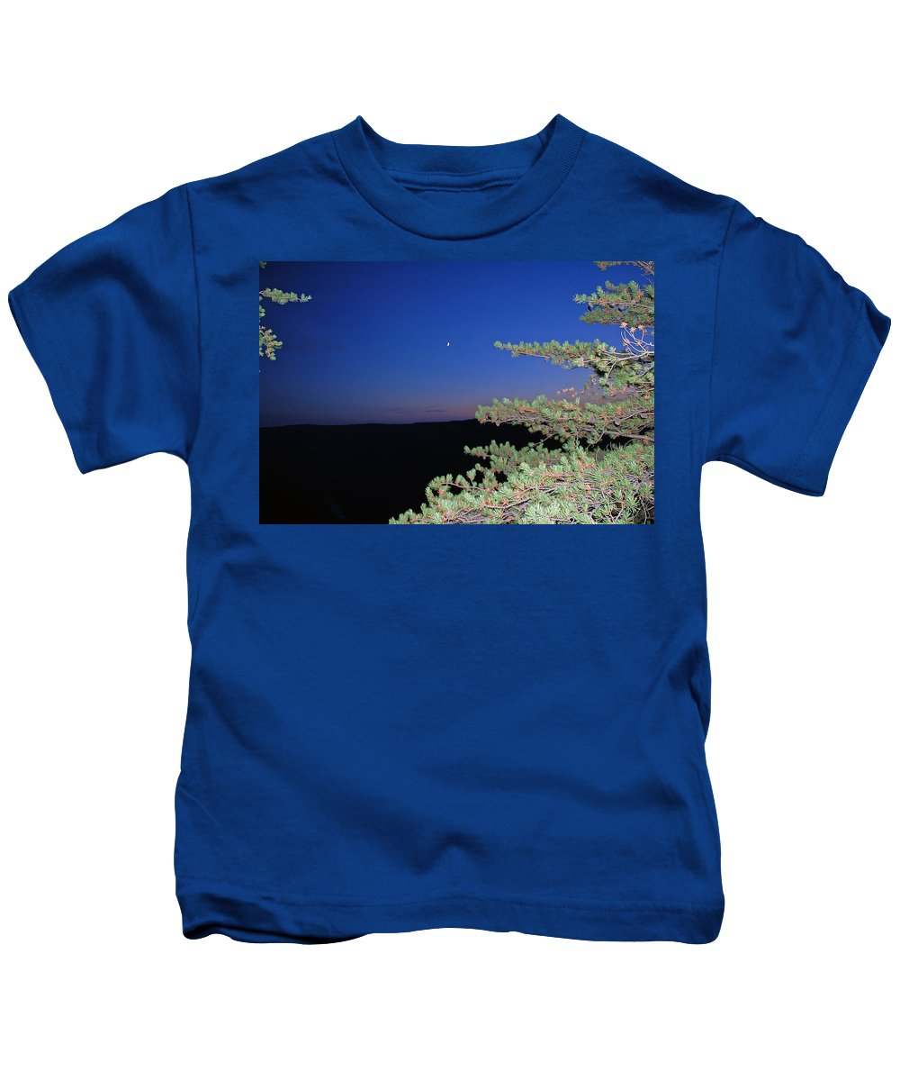Moon Kids T-Shirt featuring the photograph Moon Over Mountain by Aimee L Maher ALM GALLERY