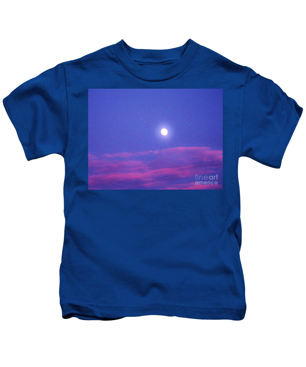 Moon Rise Kids T-Shirt featuring the photograph Moon Rise II by Janell R Colburn