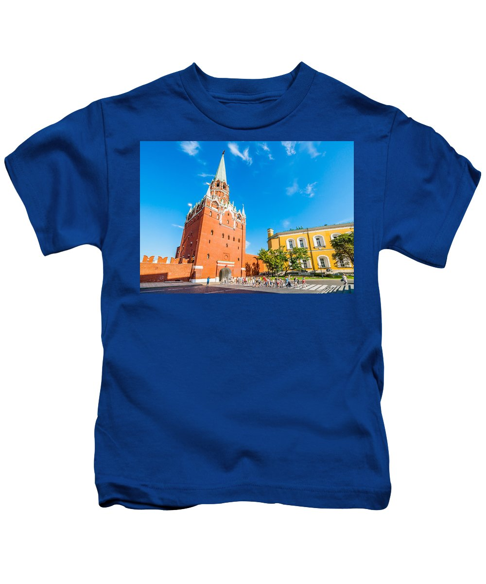 Moscow Kids T-Shirt featuring the photograph Moscow Kremlin Tour - 08 by Alexander Senin