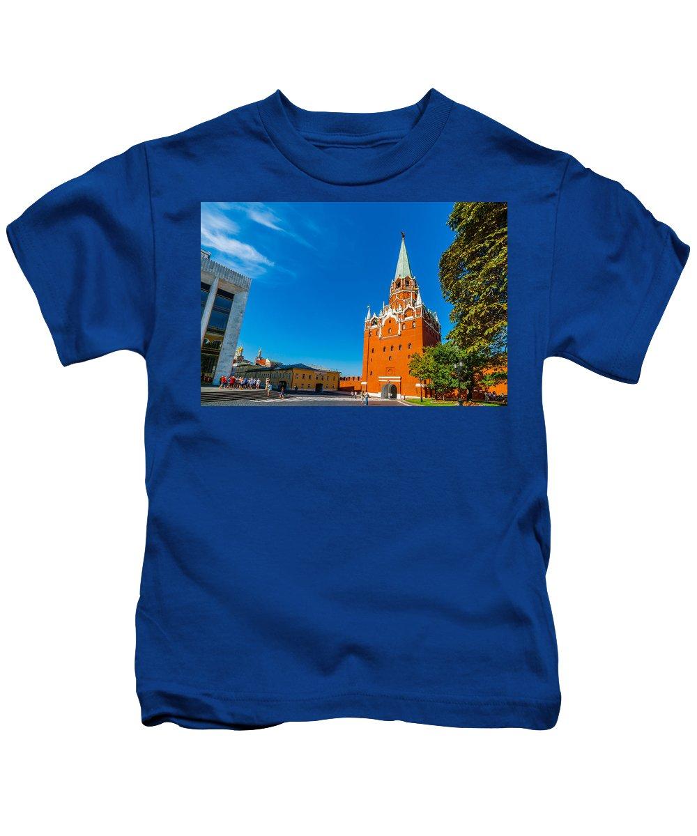 Moscow Kids T-Shirt featuring the photograph Moscow Kremlin Tour - 13 Of 70 by Alexander Senin