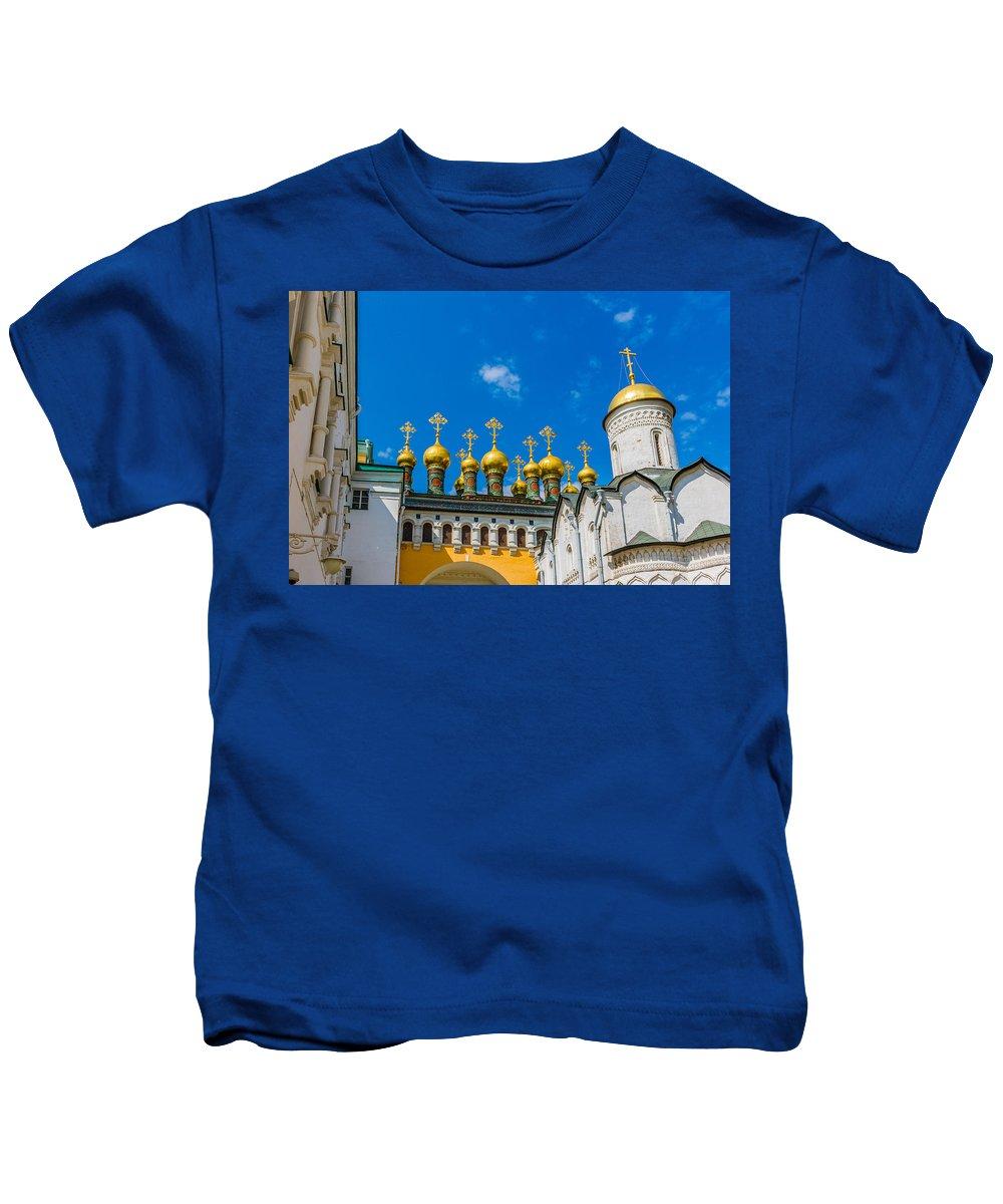 Moscow Kids T-Shirt featuring the photograph Moscow Kremlin Tour - 42 Of 70 by Alexander Senin