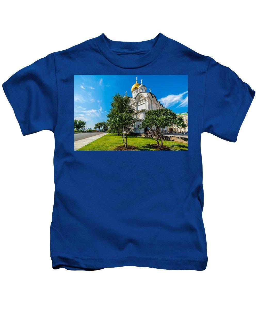 Moscow Kids T-Shirt featuring the photograph Moscow Kremlin Tour - 51 Of 70 by Alexander Senin