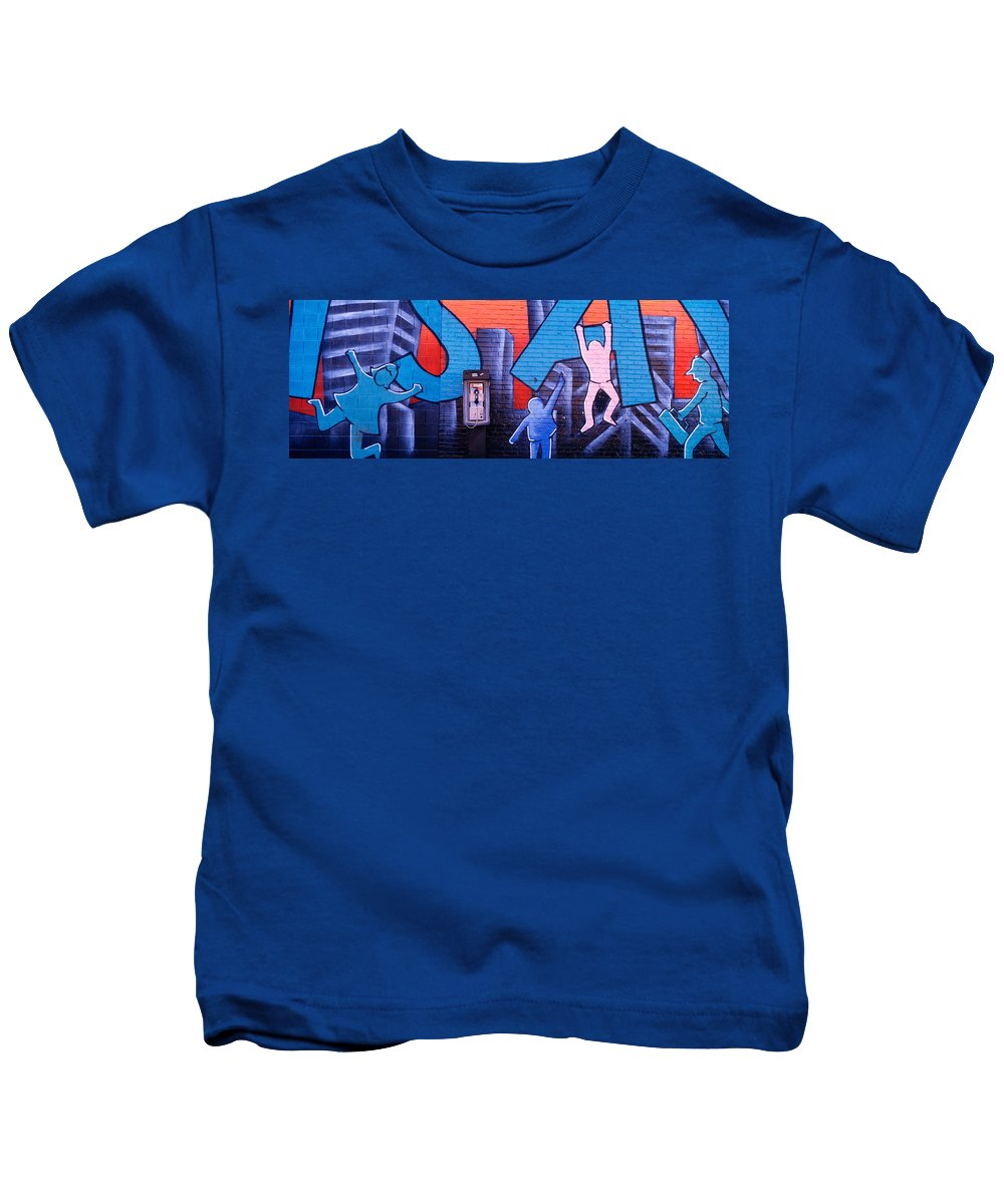 Photography Kids T-Shirt featuring the photograph Mural, Nyc, New York City, New York by Panoramic Images