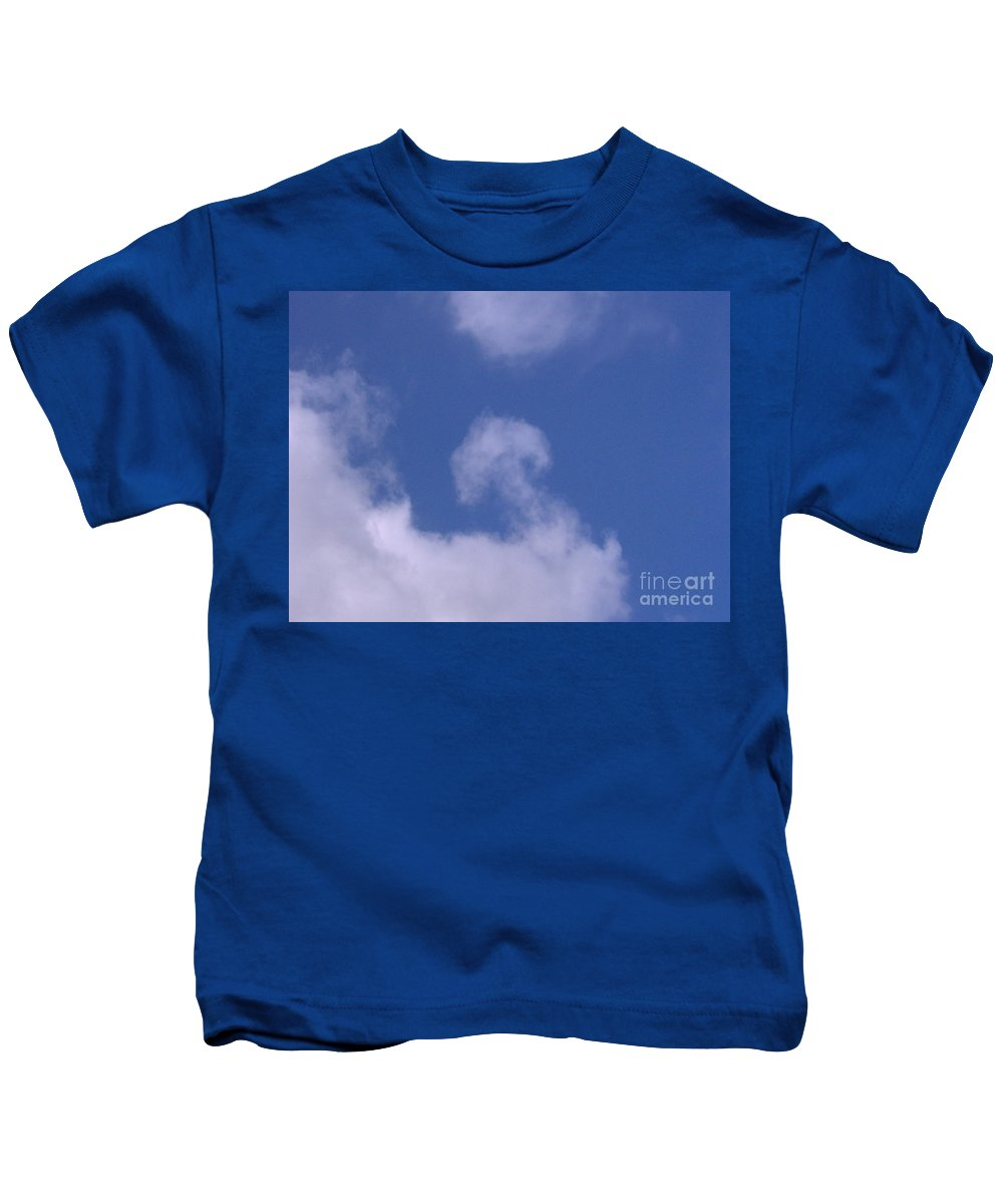 Clouds Kids T-Shirt featuring the photograph Mushroom In The Clouds by D Hackett