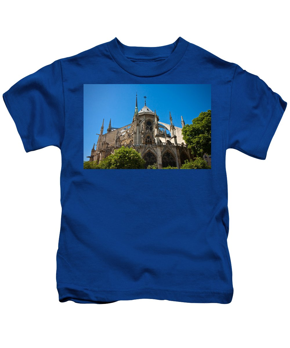 Notre Dame Kids T-Shirt featuring the photograph Notre Dame Cathedral by Anthony Doudt