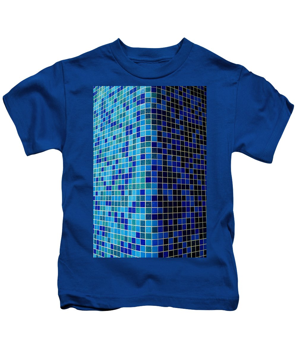 Tile Kids T-Shirt featuring the photograph Ode To Steve S.  Corner In Blue by Daniel Thompson