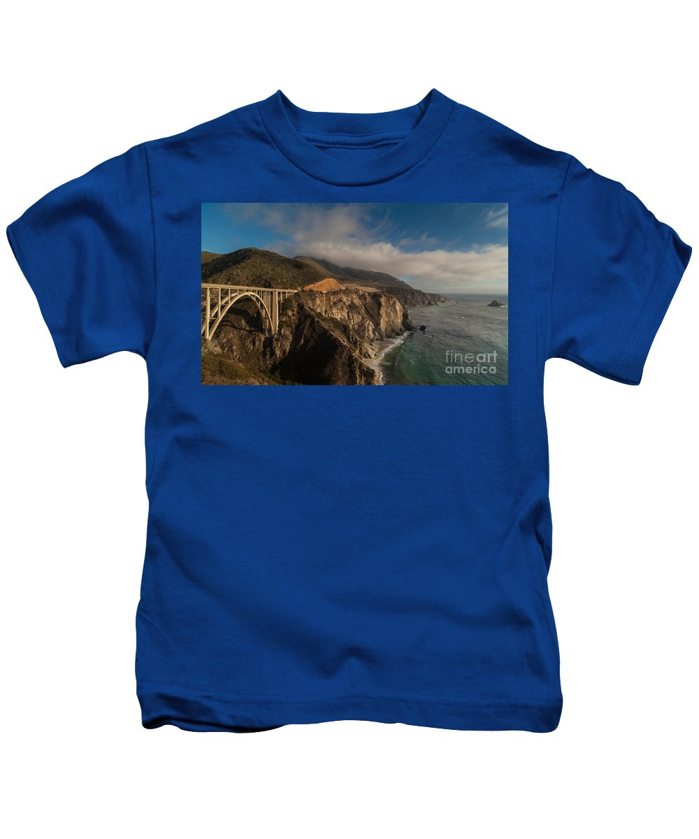 Soberanes Kids T-Shirt featuring the photograph Pacific Coastal Highway by Mike Reid