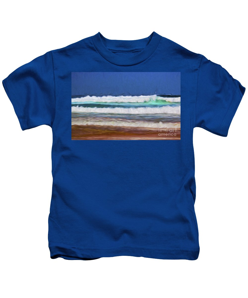 Waves Kids T-Shirt featuring the photograph Pacific surf by Sheila Smart Fine Art Photography