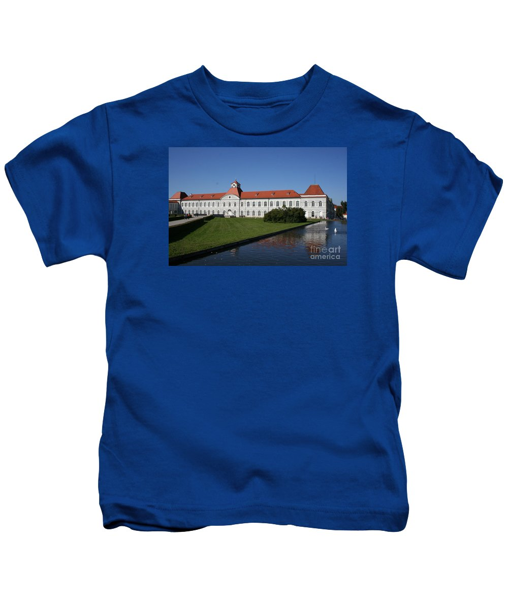 Palace Kids T-Shirt featuring the photograph Palace Nymphenburg - Germany by Christiane Schulze Art And Photography