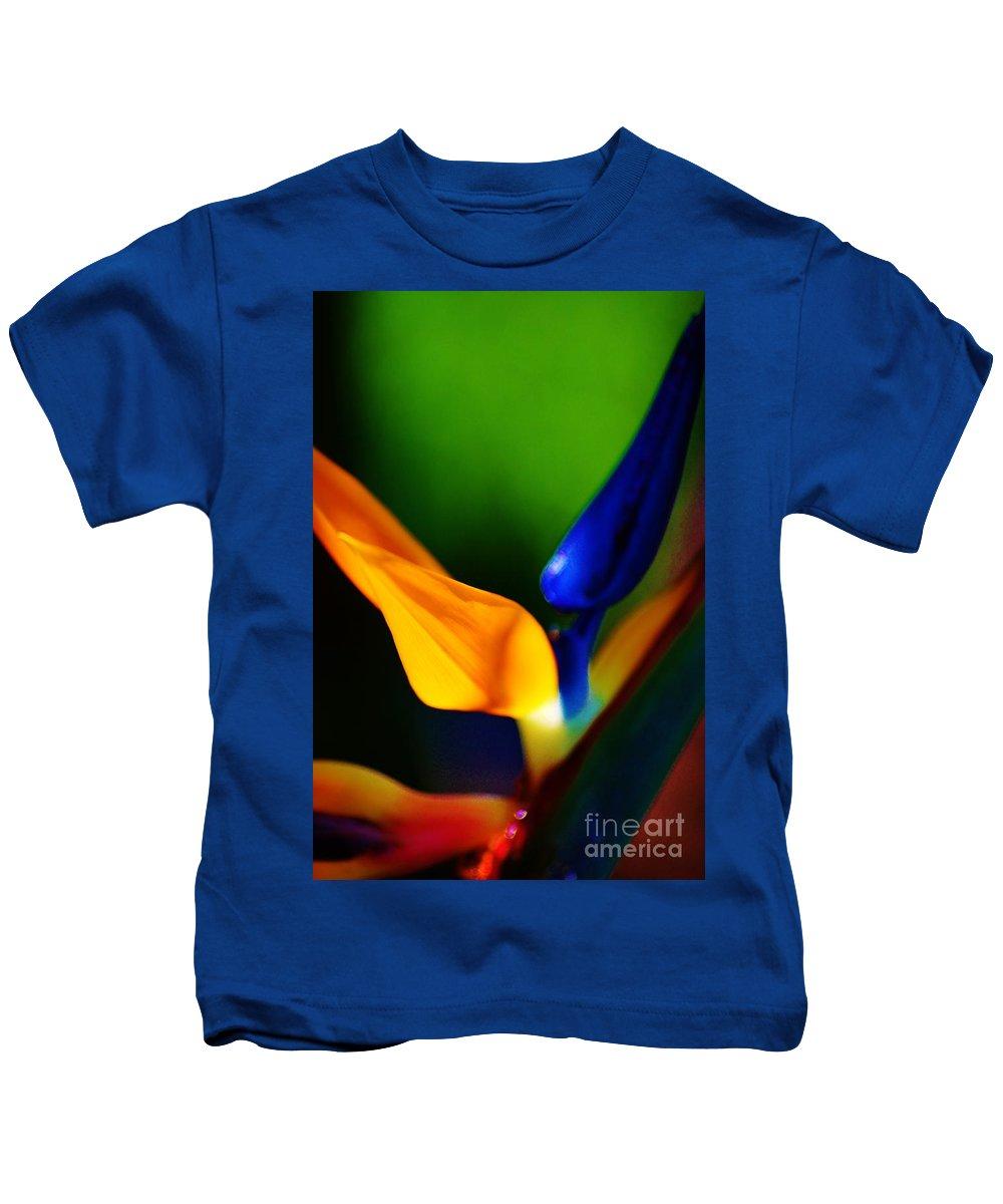 Flowers Kids T-Shirt featuring the photograph Pardise Birds by Tamara Michael