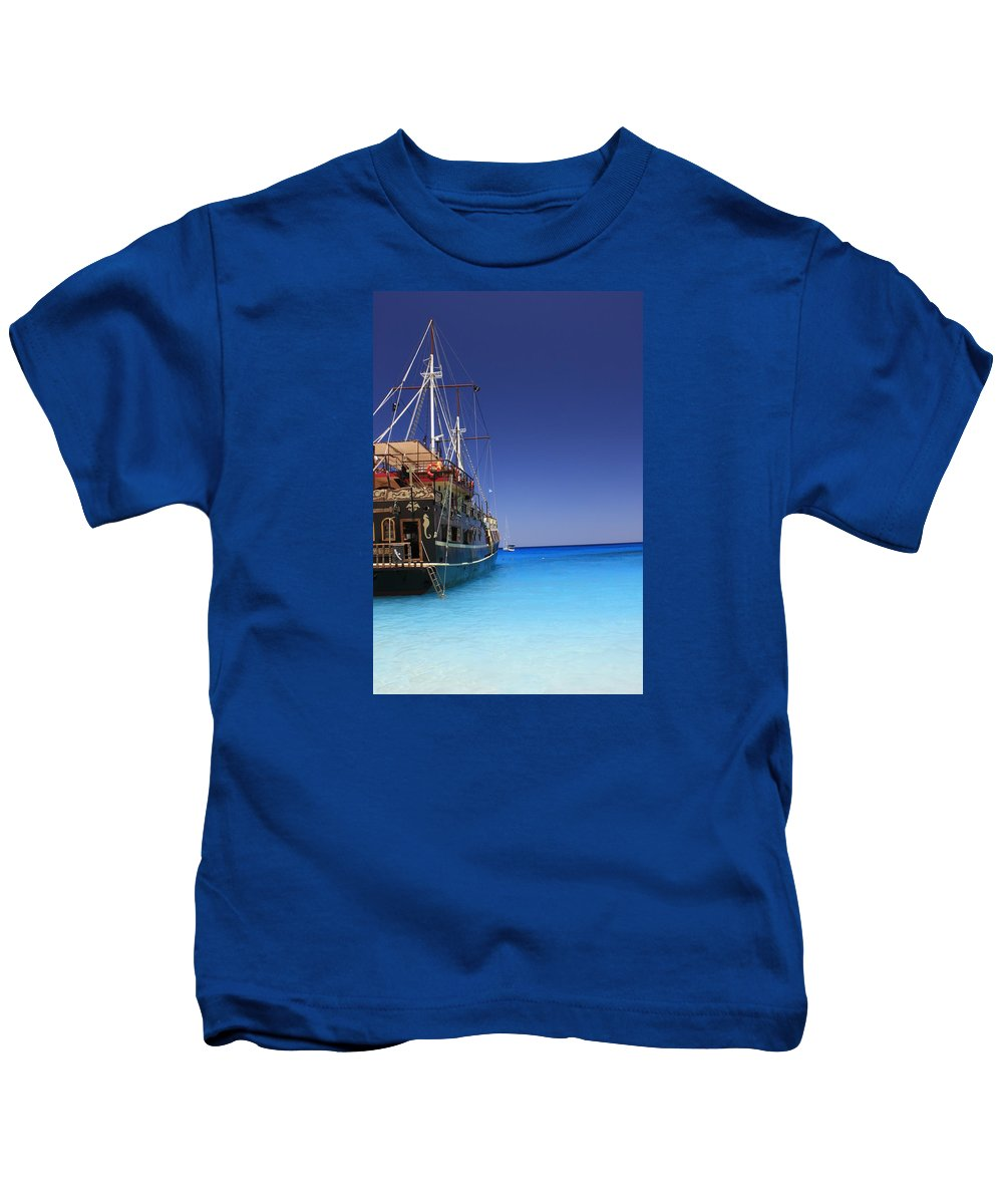 Pirate-boat Kids T-Shirt featuring the photograph Pirate Boat by FL collection