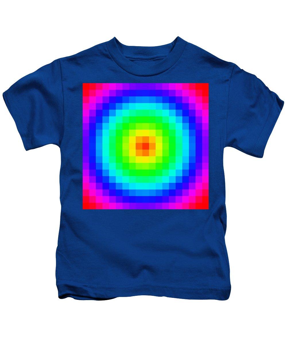 Pixel Kids T-Shirt featuring the digital art Pixel 3 by Ron Hedges