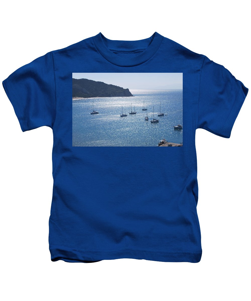 Porto Kids T-Shirt featuring the photograph Porto Bay 4 by George Katechis