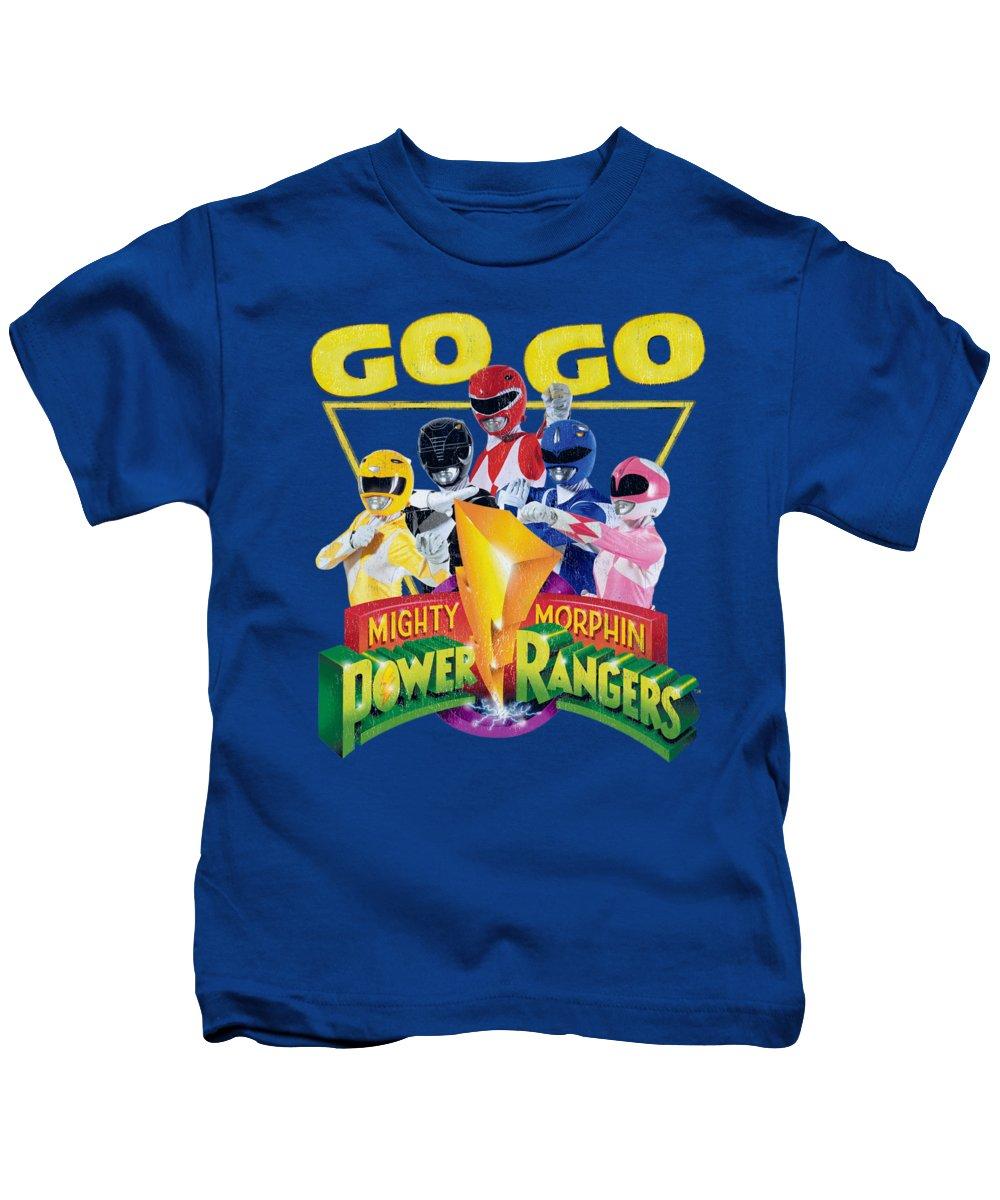 Kids T-Shirt featuring the digital art Power Rangers - Go Go by Brand A