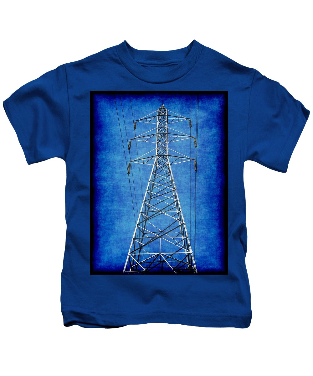 Abstract Kids T-Shirt featuring the digital art Power Up 1 by Wendy J St Christopher