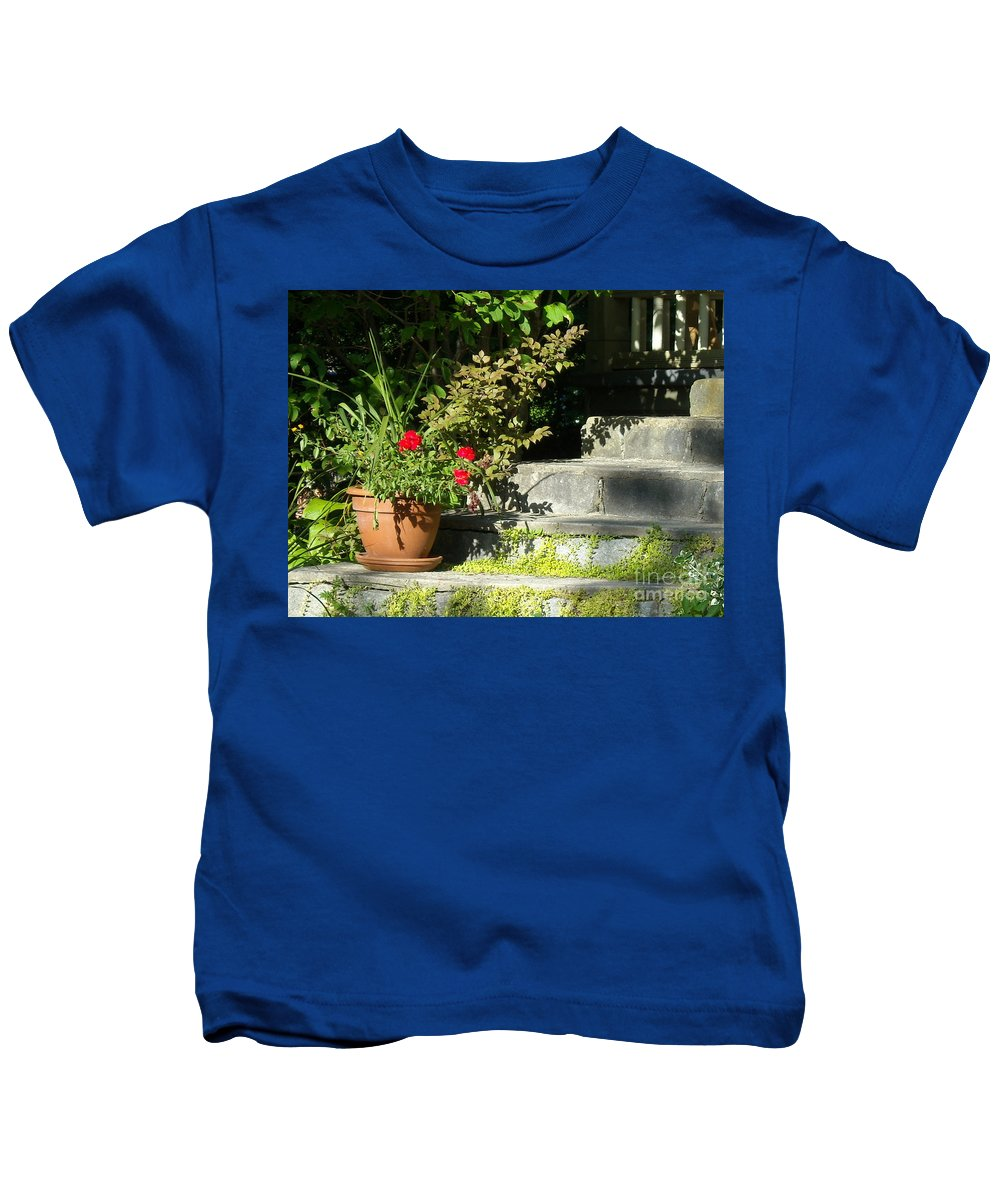 Flowers Kids T-Shirt featuring the photograph Pretty Gardens by Line Gagne