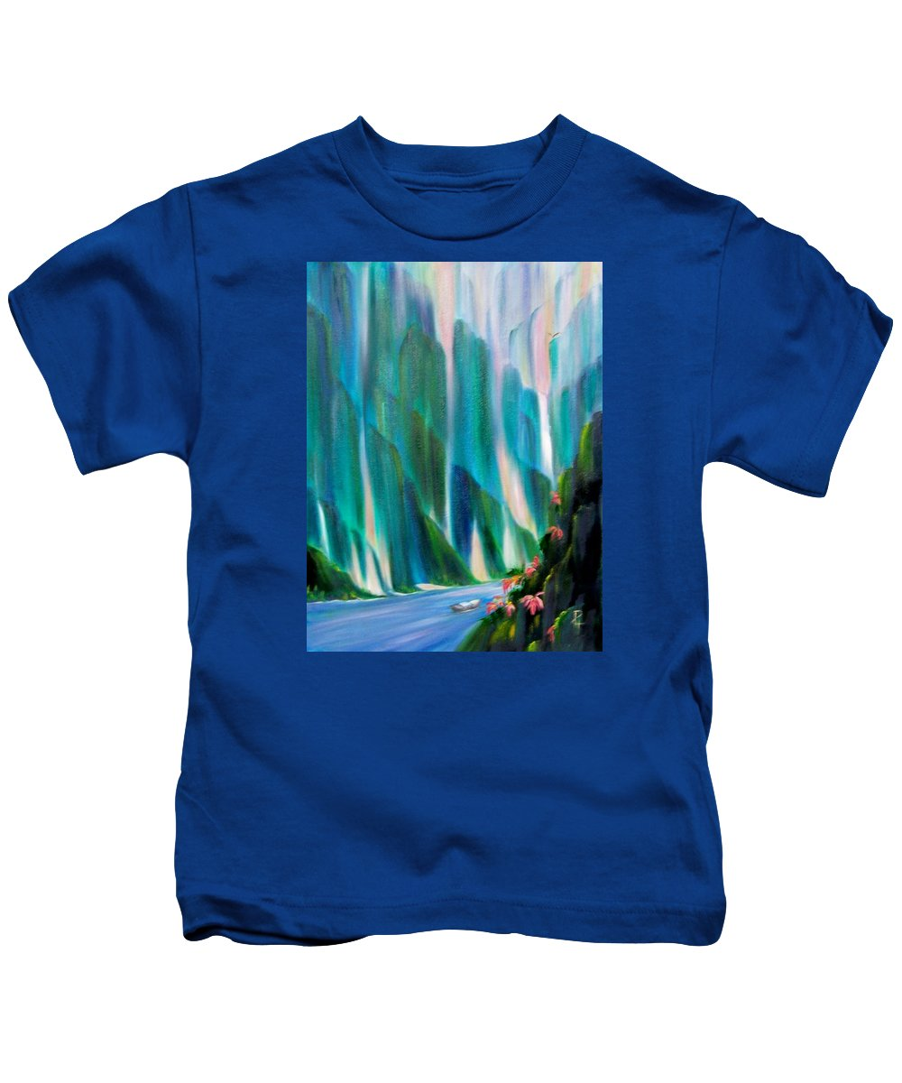 Water Kids T-Shirt featuring the painting Prisms by Dina Holland