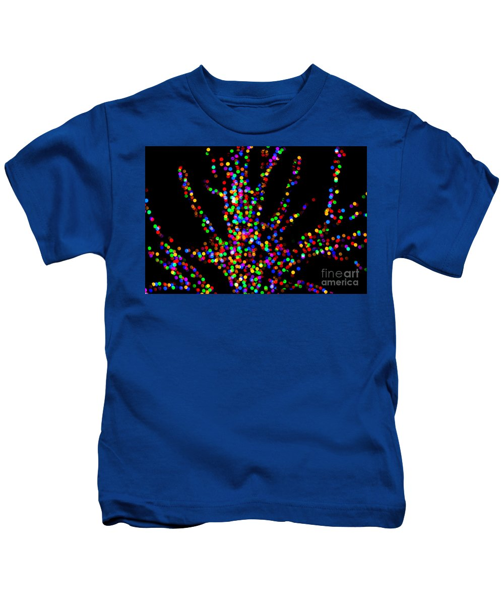Lights Kids T-Shirt featuring the photograph Rainbow Tree by Emily Kay