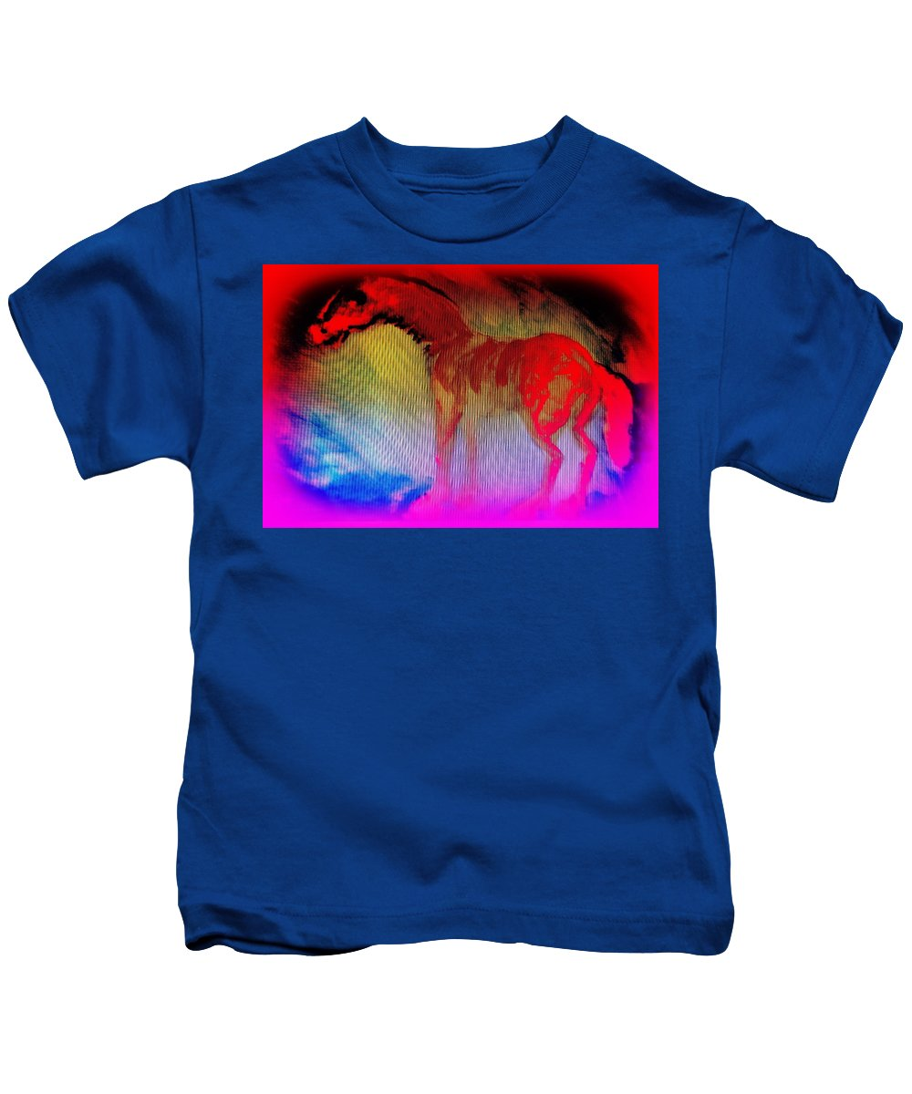 Hot Kids T-Shirt featuring the painting This Red Dragon Is Hot And Ready To Fly Off by Hilde Widerberg