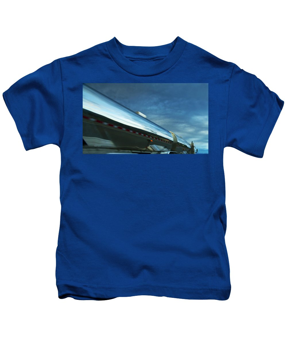 Trucks Kids T-Shirt featuring the photograph Reflections In The Passing Lane by Theresa Tahara