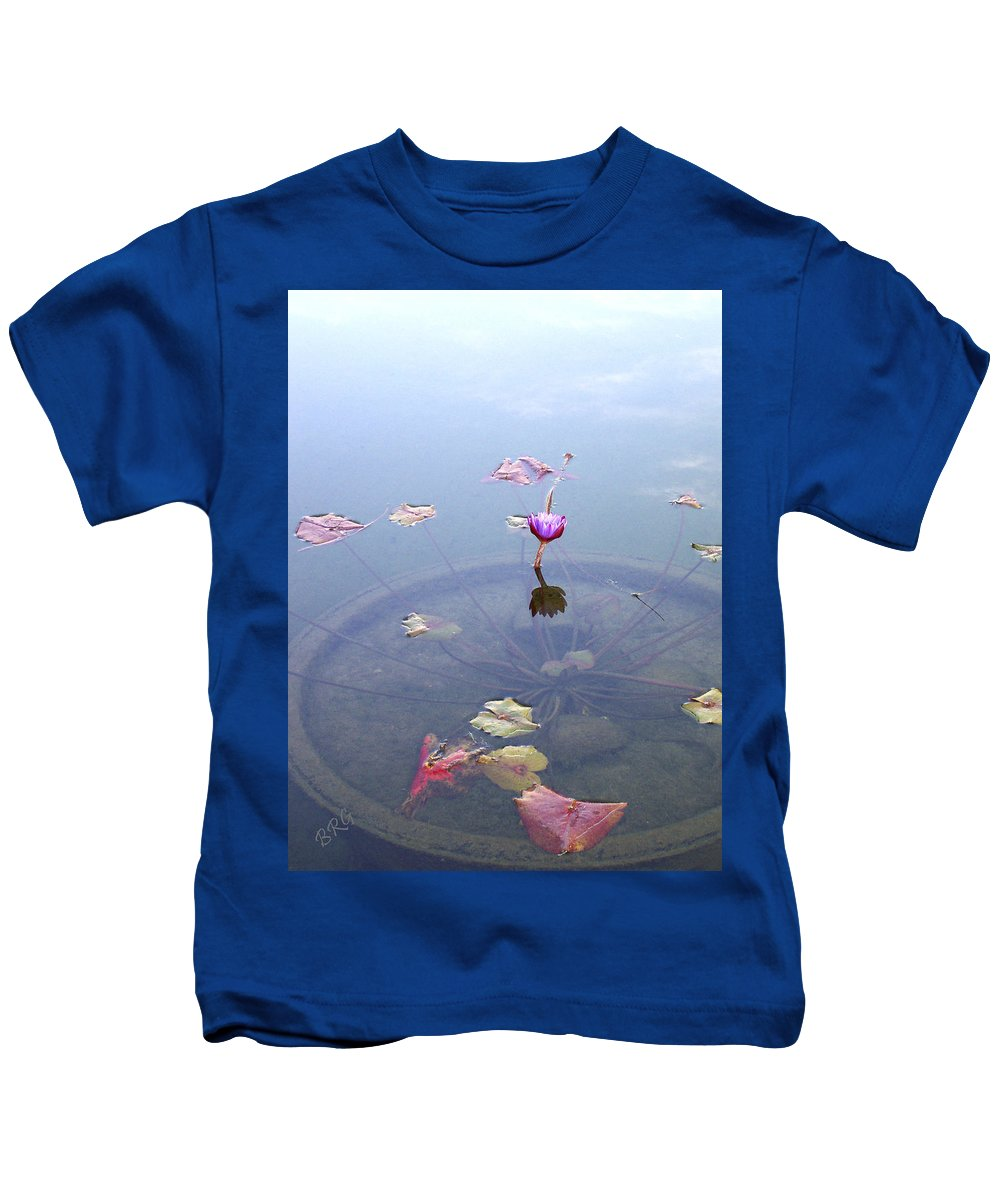 Waterlily Kids T-Shirt featuring the photograph Romantic Pond by Ben and Raisa Gertsberg