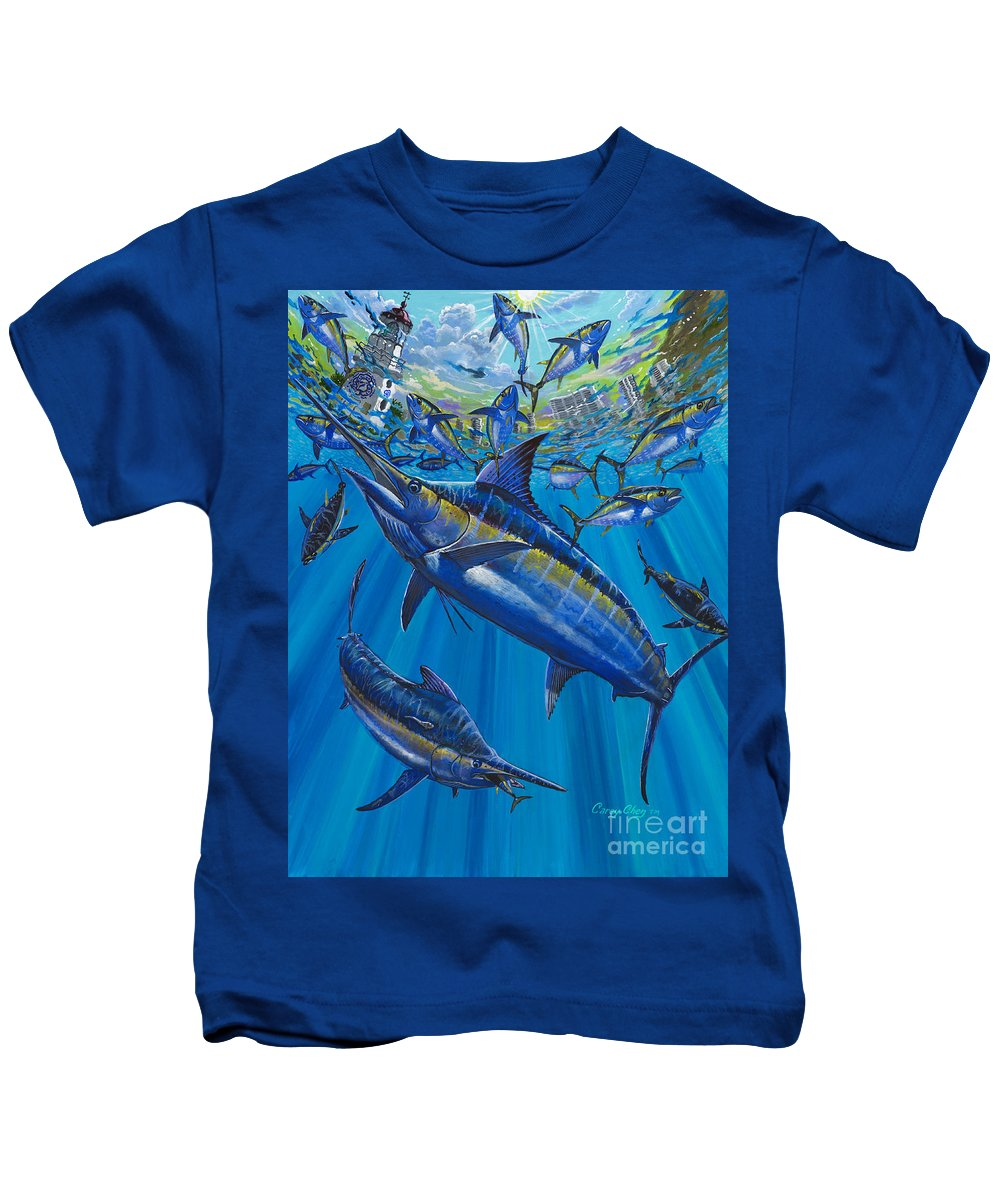 Marlin Kids T-Shirt featuring the painting Salinas Off006 by Carey Chen