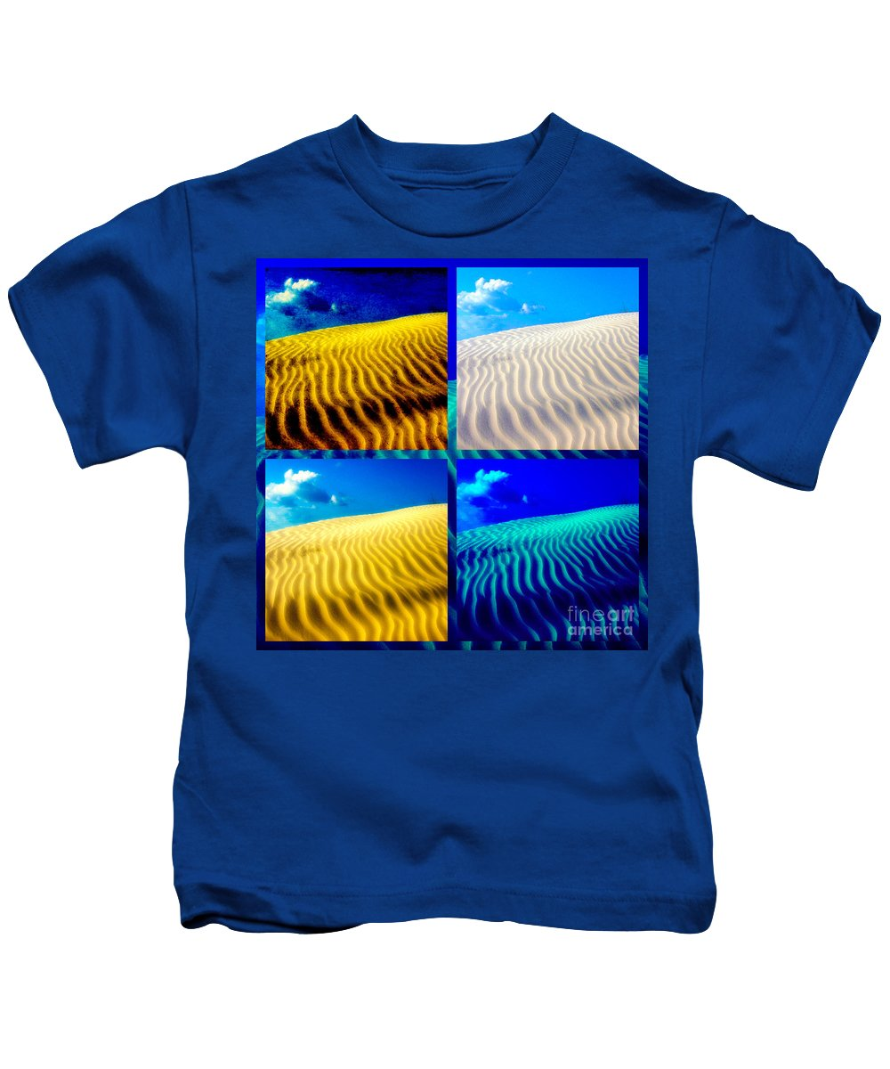 Sand Kids T-Shirt featuring the photograph Sand Dunes Collage by Susanne Van Hulst