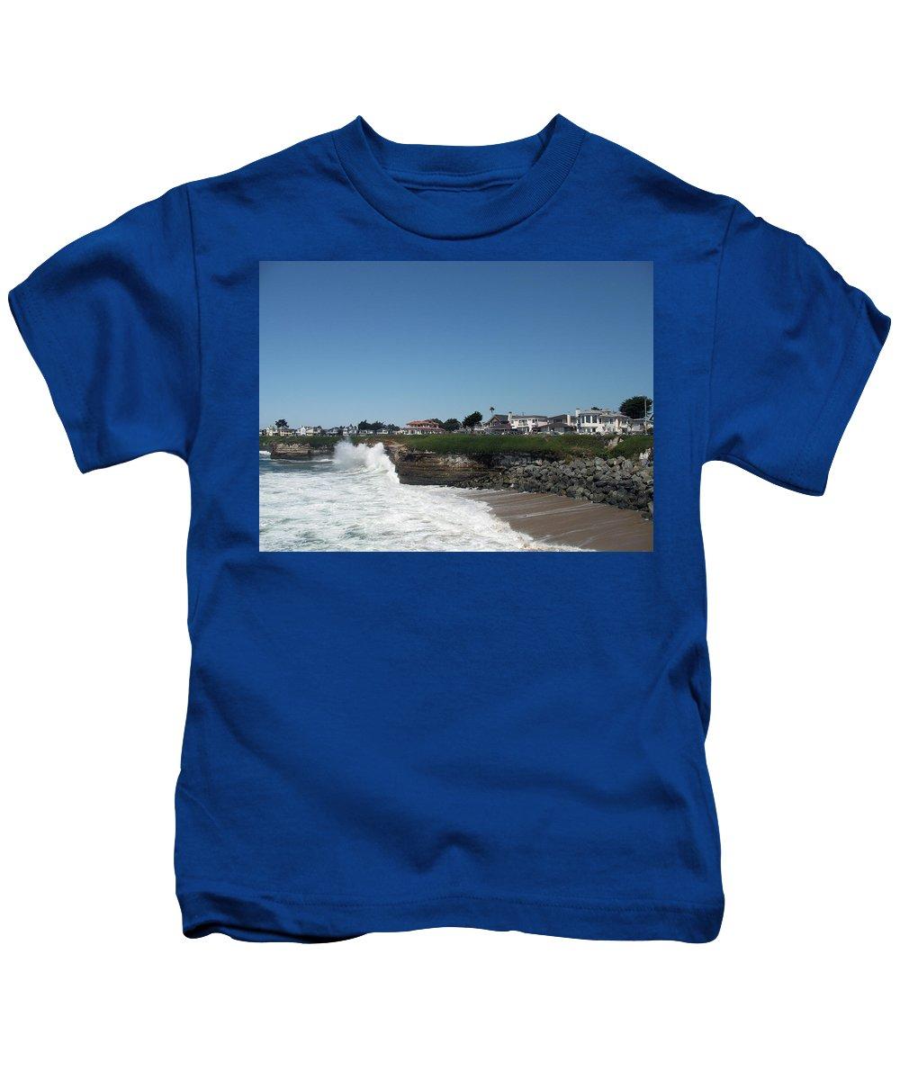 California Kids T-Shirt featuring the photograph Santa Cruz Coast by Christiane Schulze Art And Photography