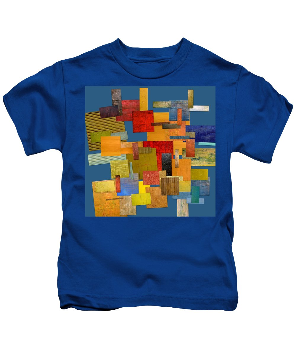 Textural Kids T-Shirt featuring the painting Scrambled Eggs Lv by Michelle Calkins