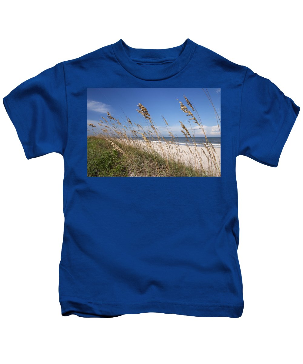 Sea Oats Kids T-Shirt featuring the photograph Sea Oats by Spencer Studios