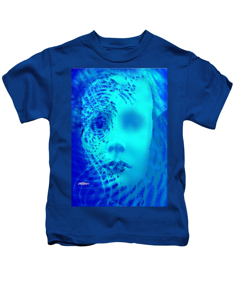 Shattered Doll Kids T-Shirt featuring the digital art Shattered Doll by Seth Weaver