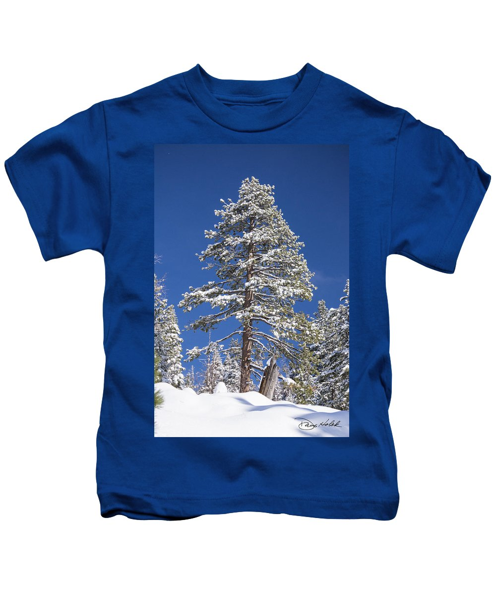 Sierra Nevada Mountains Kids T-Shirt featuring the photograph Sierra Snow by Doug Holck