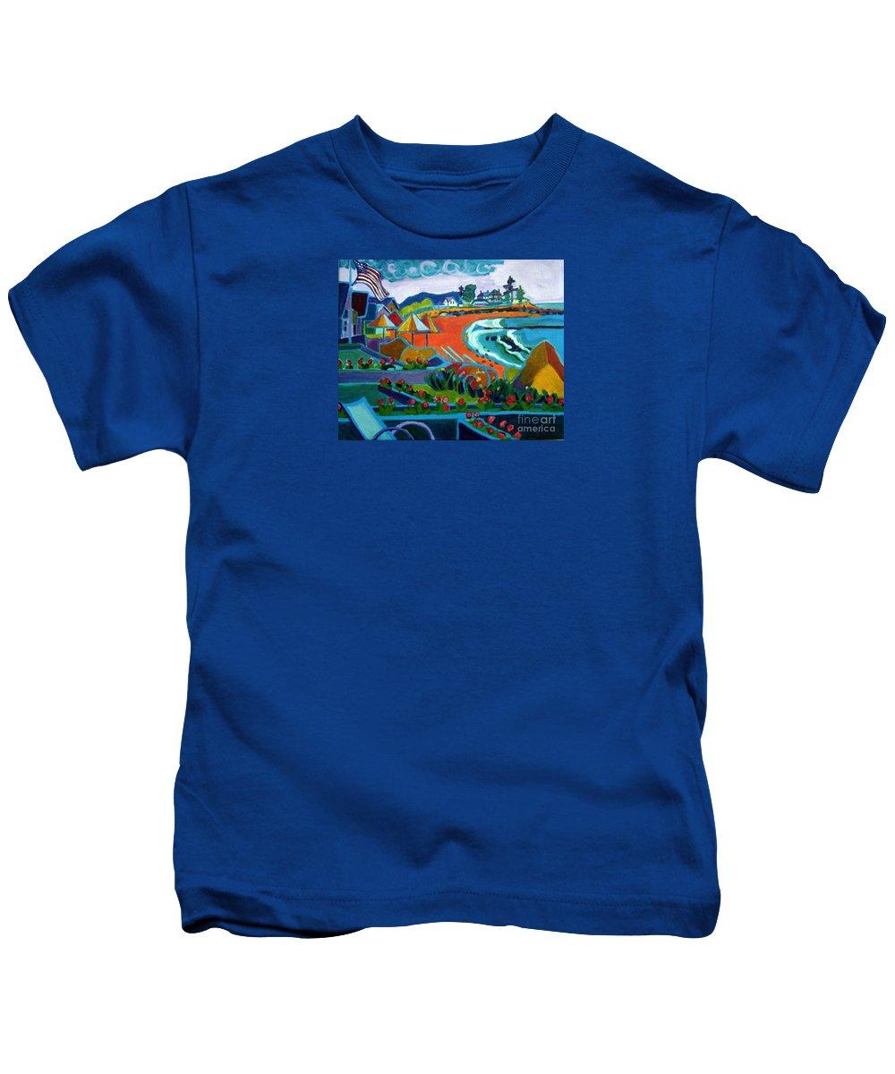 Landscape Kids T-Shirt featuring the painting Storm Brewing Hampton NH by Debra Bretton Robinson