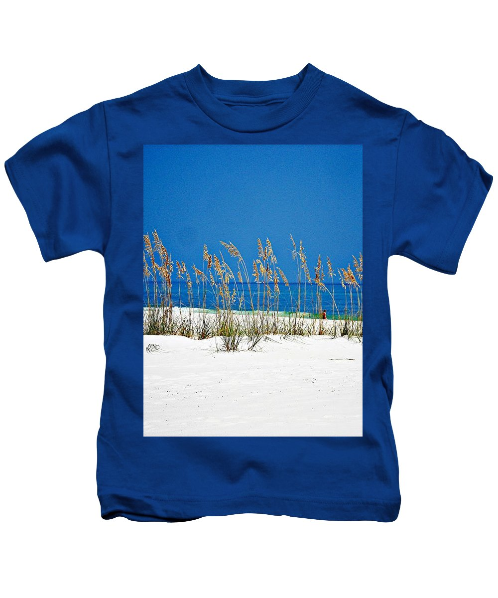 Gulf Of Mexico Kids T-Shirt featuring the photograph Sun Sand Surf by Mary Marsh