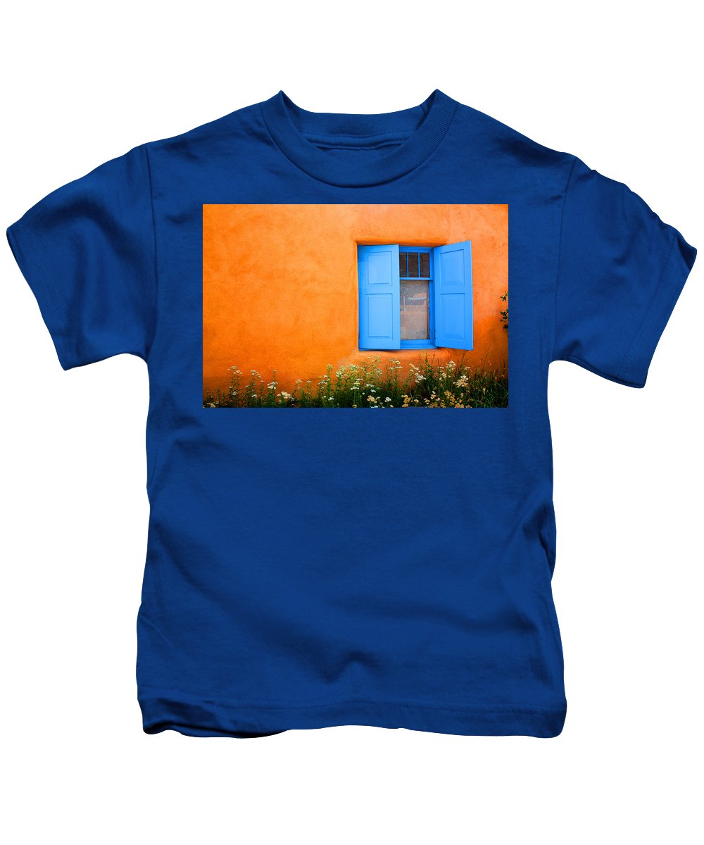 Rancho De Taos Kids T-Shirt featuring the photograph Taos Window IIi by Lanita Williams