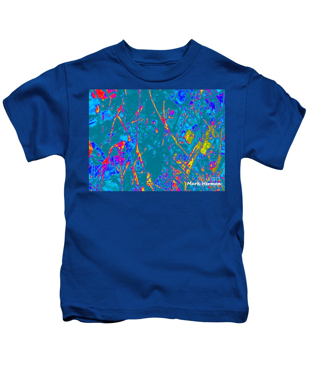 Bright Colors Kids T-Shirt featuring the painting Teacher by Mark Herman