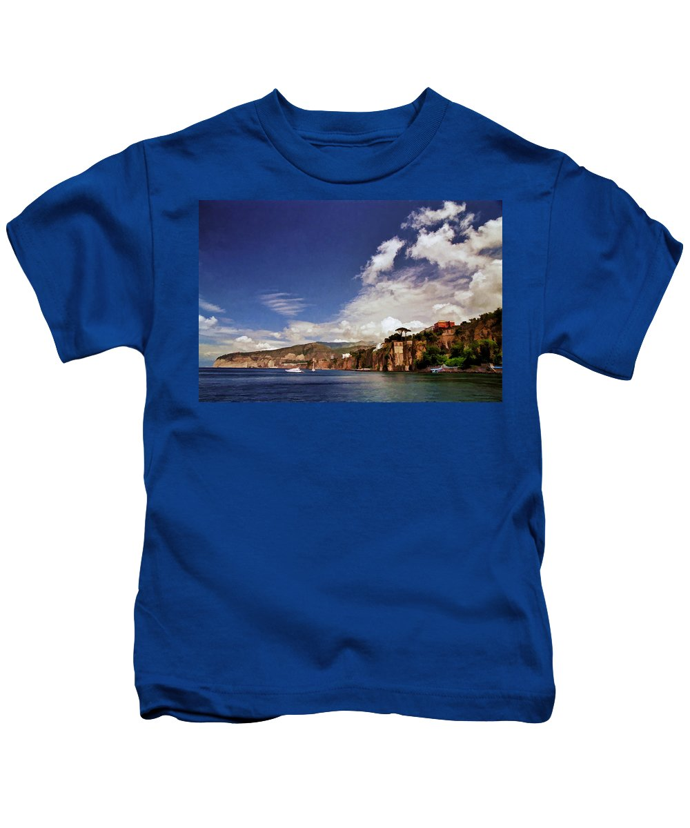 Bay Of Sorrento Kids T-Shirt featuring the photograph The Bay Of Sorrento by Allen Beatty