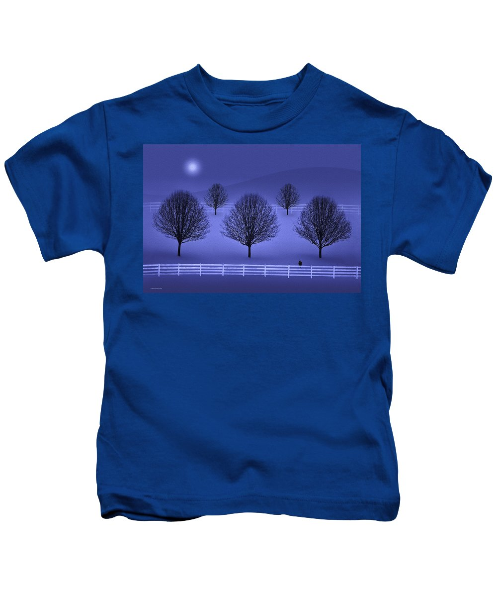 Winter Kids T-Shirt featuring the photograph The Course by Ron Jones
