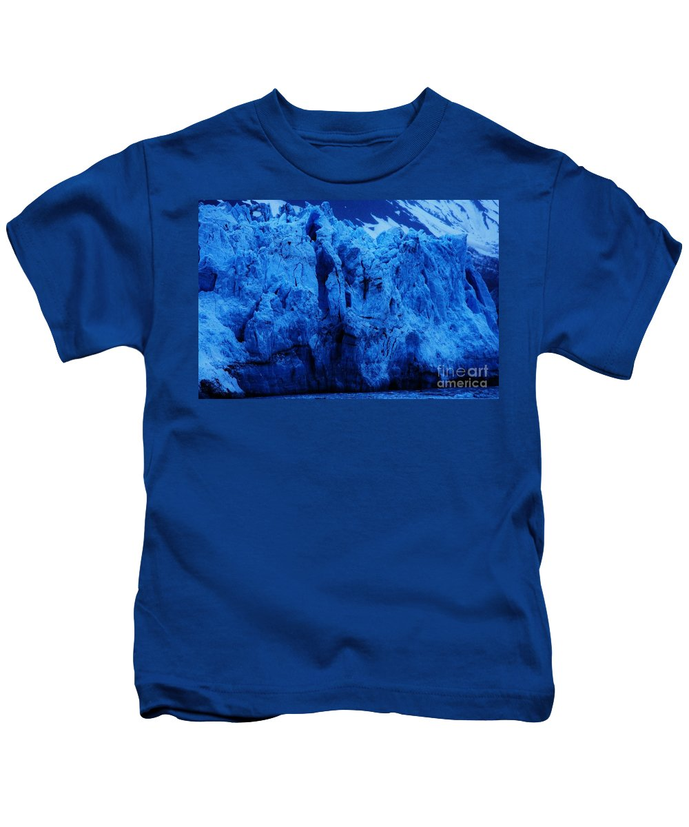 Glacier Photography Alaska Photography Glacier Bay Photography Margerie Glacier Photography Blue Ice Photography Stock Shot Photography Serene Photography Anthropomorphic Photography Pareidolia Photography Color Blue Photography Metal Frame Highly Recommended Greeting Card Available As T Shirts Duvet Covers Phone Cases Shower Curtains Tote Bags And Throw Pillows Kids T-Shirt featuring the photograph The Margerie Glacier 1 by Marcus Dagan