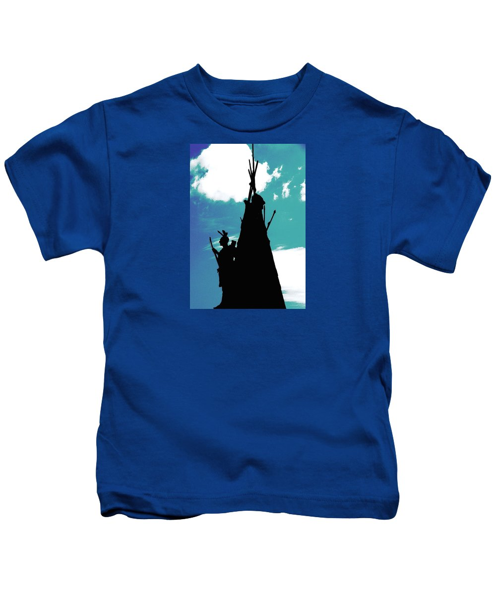 Tammany Kids T-Shirt featuring the photograph The Sentinel by Angela Davies