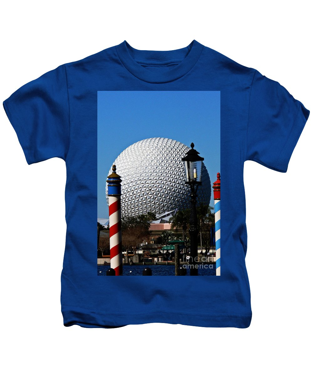 Disney Kids T-Shirt featuring the photograph The Sphere by Kevin Fortier